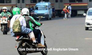 Ojek Online Resmi Jadi Angkutan Umum